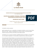 Papa Francesco 20180120 Peru Trujillo Religiosi