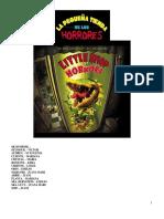 Libreto La Tiendita de Los Horrores