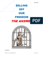 Selling Off Our Freedom the Answer