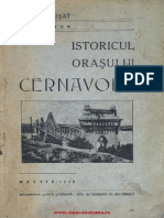 Istoricul Orasului Cernavoda Musat Ion 1938
