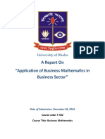 Report Business Mathematics