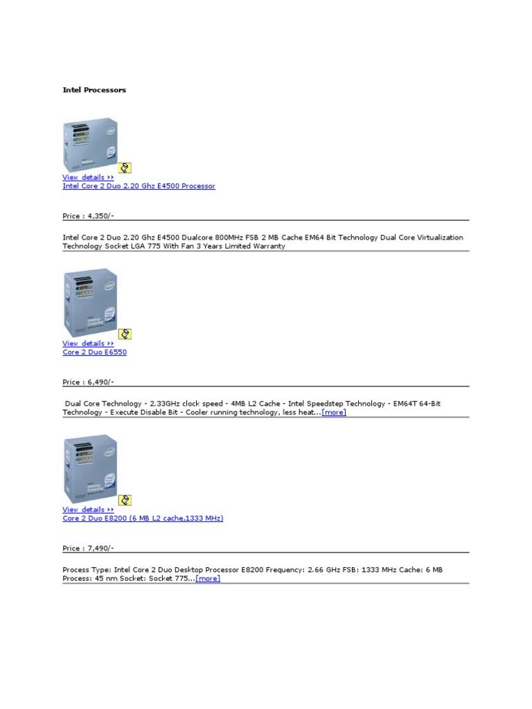 Intel Processors Computer Monitor Procesor Quad Core Q8200 Soket 775