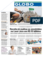 Capa O Globo - 22/01