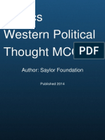 Western Political Thought Mcq Quiz by Saylor Foundation
