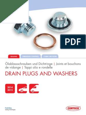 Volvo D3//D4 S40 V50 C30 C70 S60 V60 S80 V70 V40 Sump Plug Rondelle//Joint