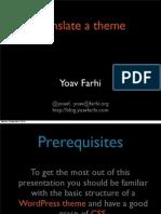 WordPress theme internationalization (i18n)