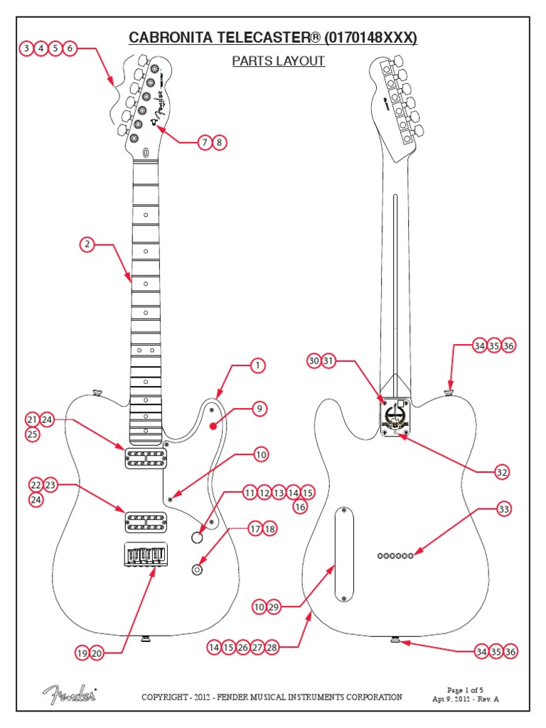 [WLLP_2054]   Cabronita Telecaster Service Manual 017-0148 | Musical Instruments | Celtic  Musical Instruments | Cabronita Wiring Diagram |  | Scribd