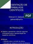 APRESENTAÇÃO DE TRABALHOS CIENTÍFICOS.pps