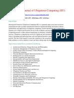 International Journal of Ubiquitous Computing (IJU)