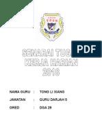 Senarai Tugas Kerja Harian Tlx 2018