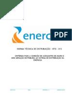 NTD-013 Critérios Para Conexão de Acessantes de Micro e Mini Geração Distribuída
