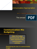 Marketing Communication Appropriation