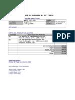 Formato Para Ordenes de Compra