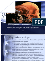 Researchproject Humanevolutioniii 110722152715 Phpapp01