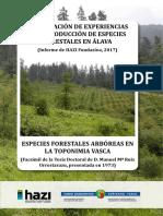Recopilación de experiencias de introducción de especies forestales en Álava
