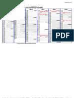 January–June 2010 Calendar – Portugal