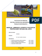 Monografia de Bacteriologia Biofilms