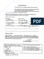 2012 Petition to Eliminate Run-off Elections in Hoboken
