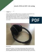 Projekt 2, Bluetooth, RFID, och NFC i din vardag.rtf