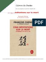 François Cheng - 5 Meditations Sur La Mort - Premier Chapitre