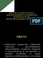Ley de Minerales No Metalicos 2011