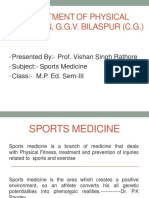 Prof. v. S. Rathore - Sports Medicine