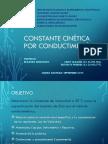 Constante Cinética y Orden de Reacción Por Conductimetría