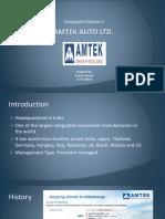 Financial Data for Amtech and Bosch