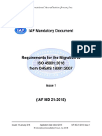 IAF MD 21 Migrationto ISO 45001 2018