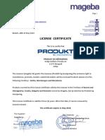 License Certificate PBGI-MAGEBA