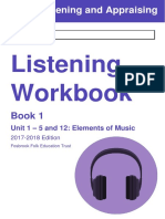 GCSE Music Workbook 1 - Elements of Music
