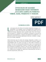 Protocolos de Manejo de Enfermedades Bajo Criterios de Produccion Limpia en Poroto