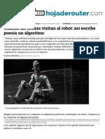 Cuando Las Musas Visitan Al Robot_así Escribe Poesía Un Algoritmo
