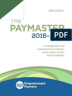 EP Paymaster 2016-2017 v1 Copy | Sick Leave | Workweek And Weekend
