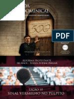 Slides - Revista 500 Anos de Reforma Protestante - Lição 10