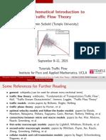 Traffic Flow Slides
