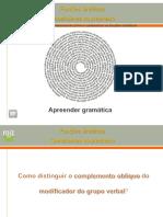 1 Distinguir o Complemento Oblquo Do Modificador Do Grupo Verbal