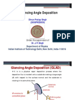 Glancing Angle Deposition Method (GLAD)