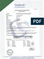 Certificado de Calibración Viga Benkelman 17 Julio 2013
