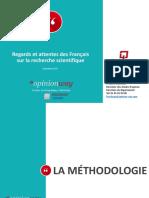 Regards Et Attentes Des Francais Sur La -Recherche