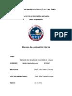 Informe de Laboratorio de Calibracion MECH