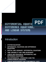Differential Equations, Difference Equations,
