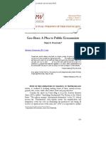 Geo-Rent a Plea to Public Economists - Matthew Brown