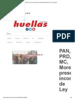 PAN PRD MC Morena Presentar n Inconstitucionalidad de Ley de Seguridad