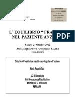 Disturbi Dellequilibrio e Malattie Neurologiche Nellanziano-Tola