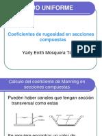 4. Coeficiente de Manning en Secciones Compuestas