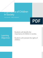 importance of children in society