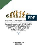 Primera Entrega 2018 de Historia Contemporanea i