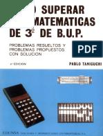 Cómo Superar Las Matemáticas de 3º de B.U.P. - Taniguchi