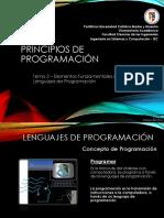 Principio de Programacion Elementos Fundamentales de Los Lenguajes de Programación